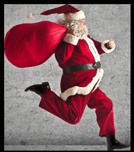 Running Santa clear