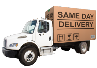 Same day delivery truck clear