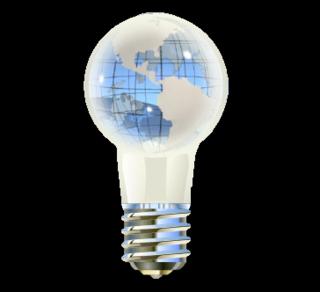 World bulb 02 clear