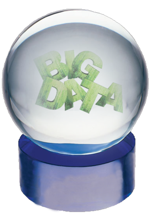 Big Data Crystal ball clear