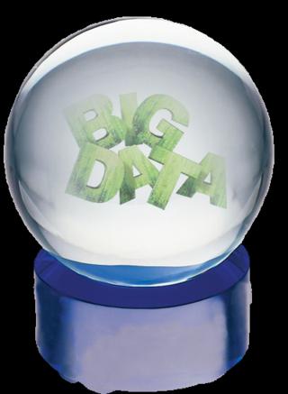 Big Data Crystal ball clear